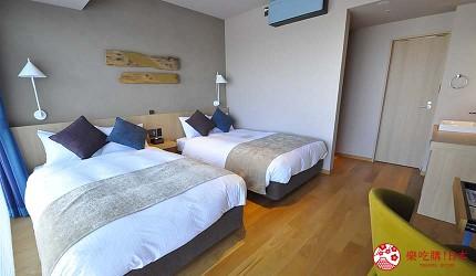 大阪京都溫泉會館推薦「SPA&HOTEL 水春 松井山手店」的雙床房室內照