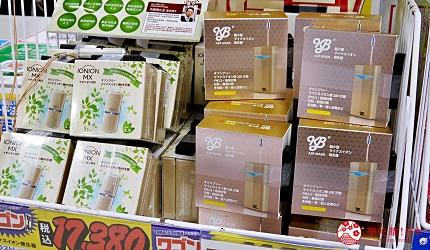 大阪道頓堀電器行推薦「愛電王」店內販售的 KB 隨身空氣清淨機