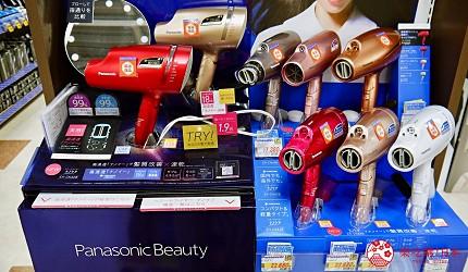 大阪道頓堀電器行推薦「愛電王」店內販售的 Panasonic 高滲透奈米水離子吹風機