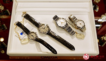 大阪道頓堀電器行推薦「愛電王」店內販售的手錶有歐米茄 DE VILLE
