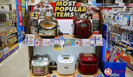 大阪道頓堀電器行推薦「愛電王」店內販售的五大電飯鍋