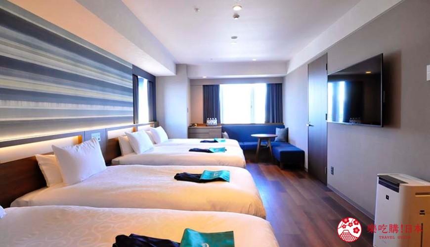 日本自由行大阪交通方便住宿推介karaksa hotel grande 新大阪 Tower唐草飯店的4人房