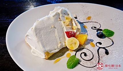 關西自由行必去推薦推介大阪難波和泉市市民最愛的咖啡廳CAFE MANO的招牌甜點鮮奶油戚風蛋糕雪芳蛋糕