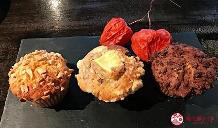 關西自由行必去推薦推介大阪難波和泉市市民最愛的咖啡廳CAFE MANO的招牌甜點馬芬蛋糕鬆餅
