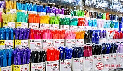 大阪必逛文具包装采购天堂「シモジマ 下岛包装广场・文具商城 心斋桥店」贩卖的「FRIXION 抆抆笔」