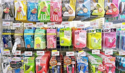 大阪必逛文具包装采购天堂「シモジマ 下岛包装广场・文具商城 心斋桥店」贩卖的「无针订书机」