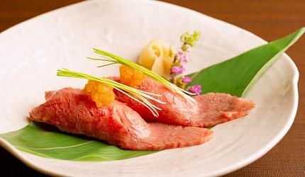 日本三大和牛滋贺近江牛推荐餐厅毛利志满近江牛三上石烧套餐近江牛牛肉寿司