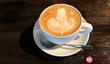 關西自由行必去推薦推介大阪難波和泉市市民最愛的咖啡廳CAFE MANO的拉花拿鐵