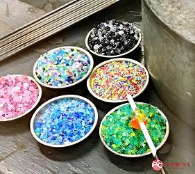 關西自由行必去推薦推介大阪難波和泉市玻璃珠DIY過程中點綴自己喜歡的顏色圖案實拍