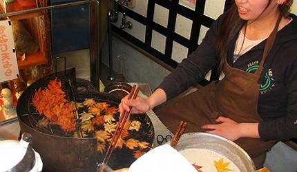 大阪美食推薦阪急箕面站箕面瀑布炸楓葉天婦羅