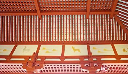 奈良必看世界遺跡平城宮跡牆上壁畫