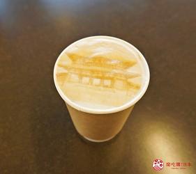 奈良必看世界遺產平城宮跡天平美食館拉花咖啡