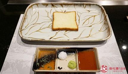 心齋橋「みやざき館」品嚐日本和牛3連霸之「宮崎牛」的鐵板現煎-醬汁