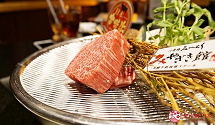 心齋橋「みやざき館」品嚐日本和牛3連霸之「宮崎牛」的鐵板現煎-牛小里脊